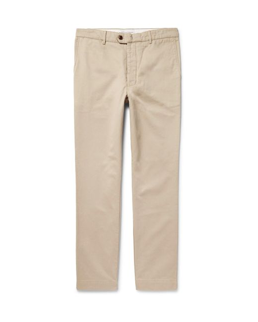 Officine Generale - Natural New Fisherman Cotton-twill Chinos for Men - Lyst