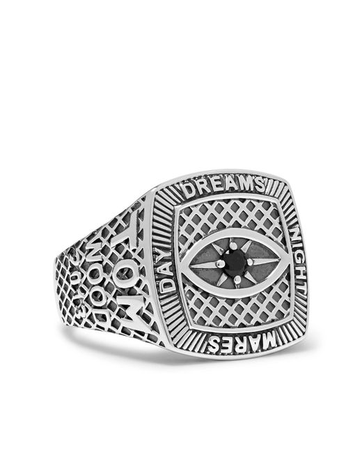 Tom Wood Metallic Champion Sterling Silver Crystal Ring for men