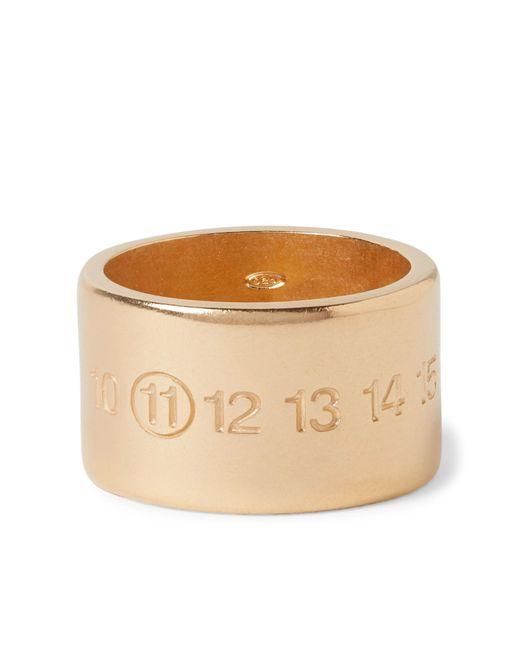 Maison Margiela | Metallic Engraved Gold-plated Ring for Men | Lyst