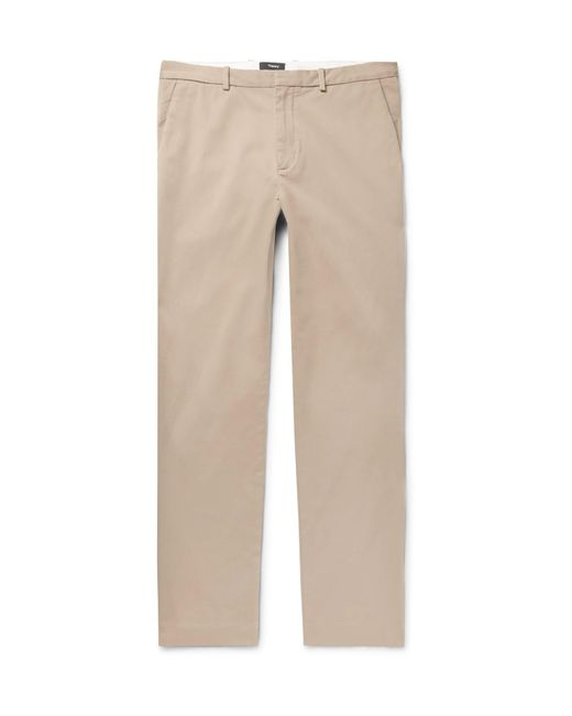 Theory - Natural Caz Stretch-cotton Twill Trousers for Men - Lyst