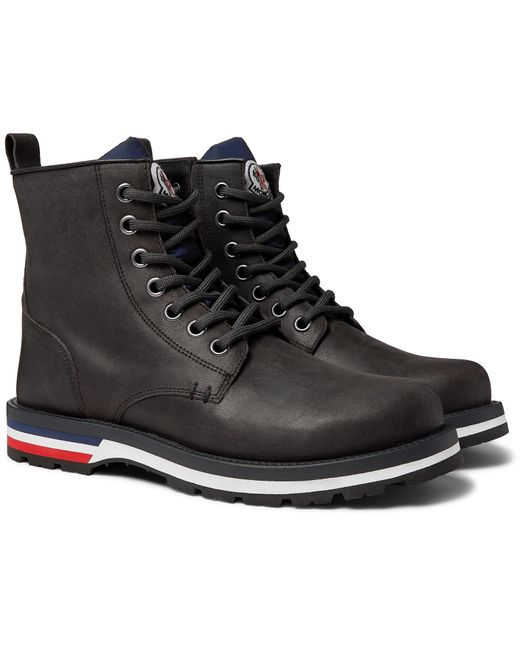 Moncler Gray New Vancouver Suede Boots for men