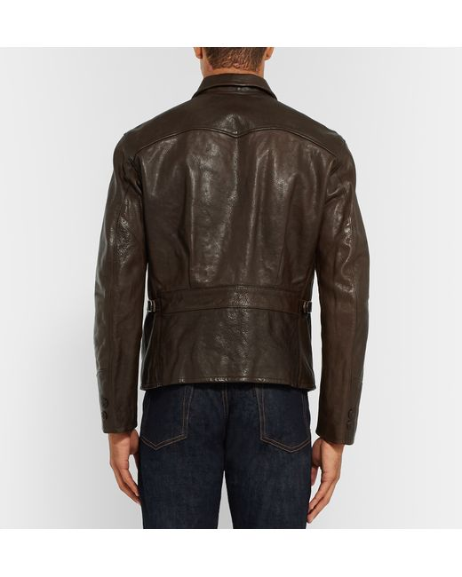 Rrl Morrow Leather Jacket In Brown For Men Lyst