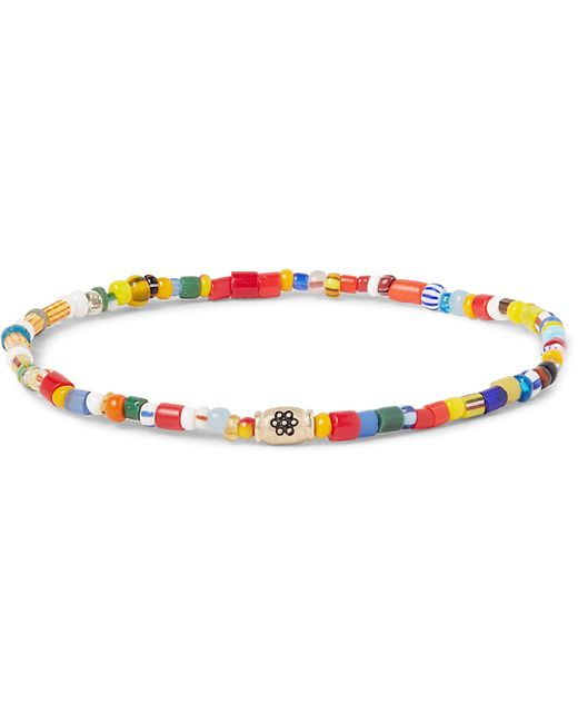Luis Morais | Multicolor Glass Bead Gold Bracelet for Men | Lyst