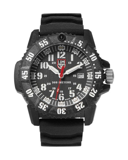Luminox | Black 3800 Series 3801 Carbon-reinforced And Rubber Watch for Men | Lyst
