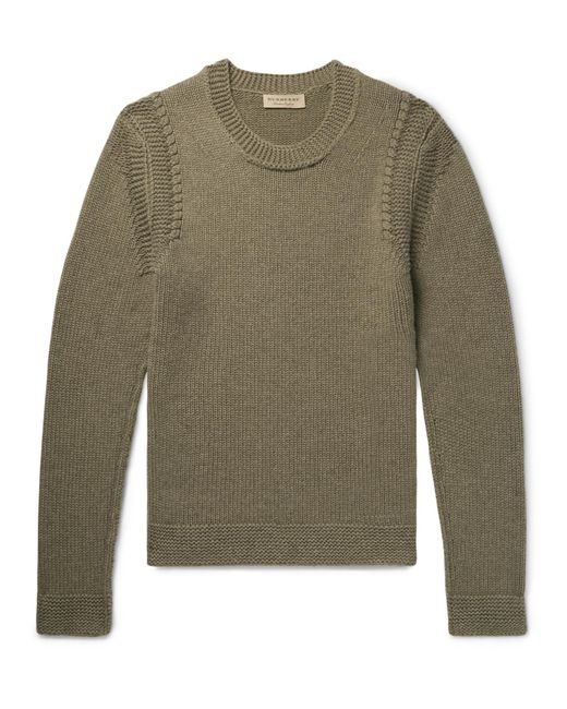 Burberry - Green Cashmere Sweater for Men - Lyst
