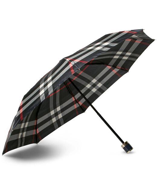 Burberry | Blue Checked Travel Umbrella | Lyst
