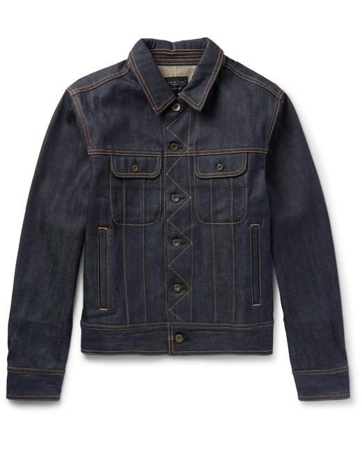 Rag & Bone | Blue Selvedge Denim Jacket for Men | Lyst