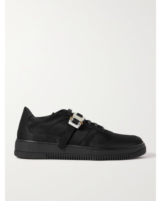 1017 ALYX 9SM Black Buckle-embellished Satin Sneakers for men