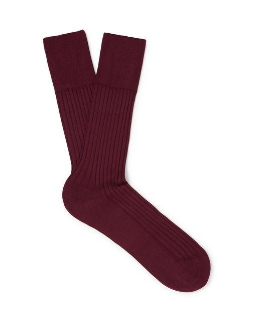 Falke - Red No. 13 Piuma Cotton-blend Socks for Men - Lyst