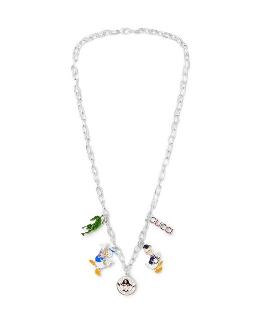 Gucci   Metallic Enamelled Sterling Silver Necklace for Men   Lyst