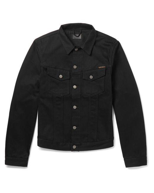 Nudie Jeans Black Nudie Billy Denim Jacket for men