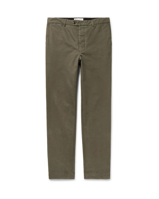 Officine Generale - Green New Fisherman Cotton-twill Chinos for Men - Lyst