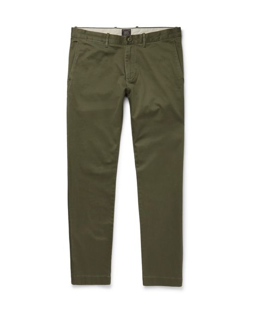 J.Crew - Green Stretch-cotton Twill Chinos for Men - Lyst