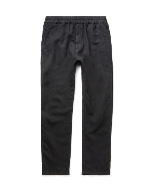 Folk | Black Linen And Cotton-blend Drawstring Trousers for Men | Lyst