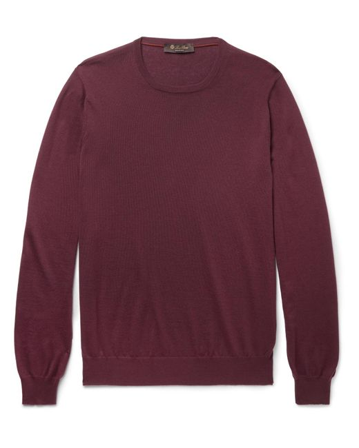 Loro Piana   Purple Cashmere Sweater for Men   Lyst