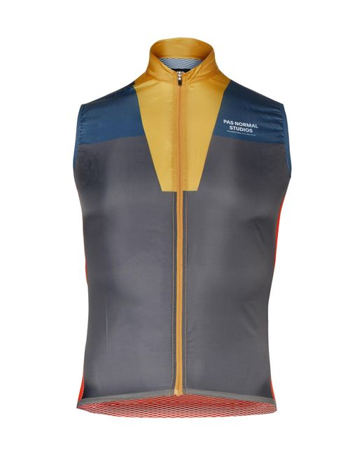 Pas Normal Studios   Blue Solitude Mesh And Shell Cycling Gilet for Men   Lyst