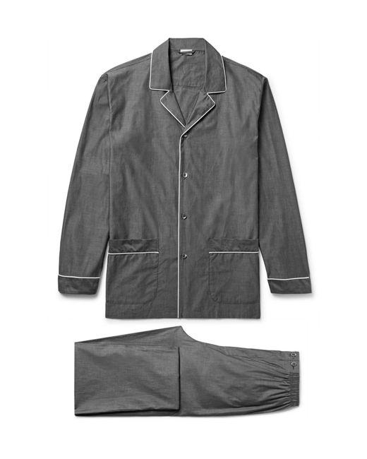 Zimmerli - Gray Mercerised Cotton Pyjama Set for Men - Lyst