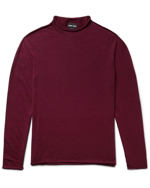 Giorgio Armani | Red Cashmere-blend Sweater for Men | Lyst