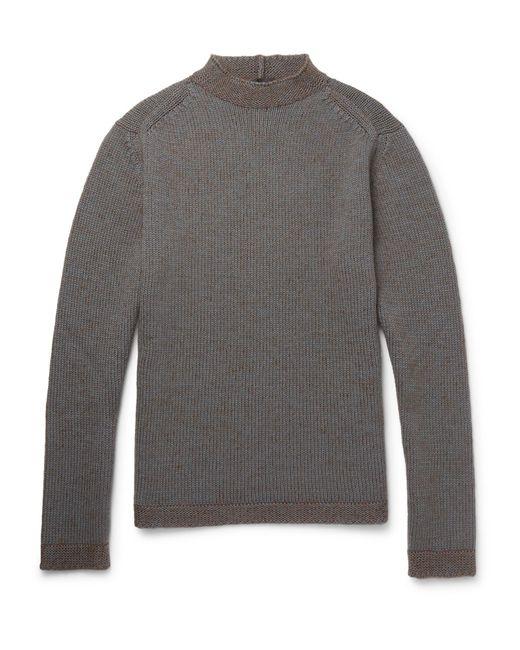 Giorgio Armani | Gray Wool-blend Sweater for Men | Lyst