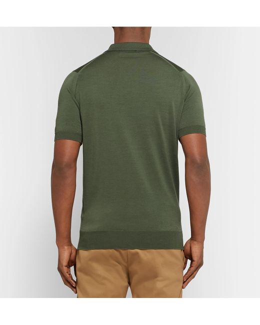 brand new aa51f c3f08 john-smedley-army-green-Payton-Slim-fit-Wool-Polo-Shirt.jpeg