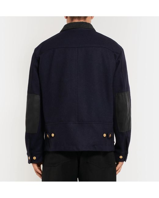 Cotton Junya Watanabe Leather Vinyl Wool Blue Melton And Carharrt Trimmed SwHS7aqx