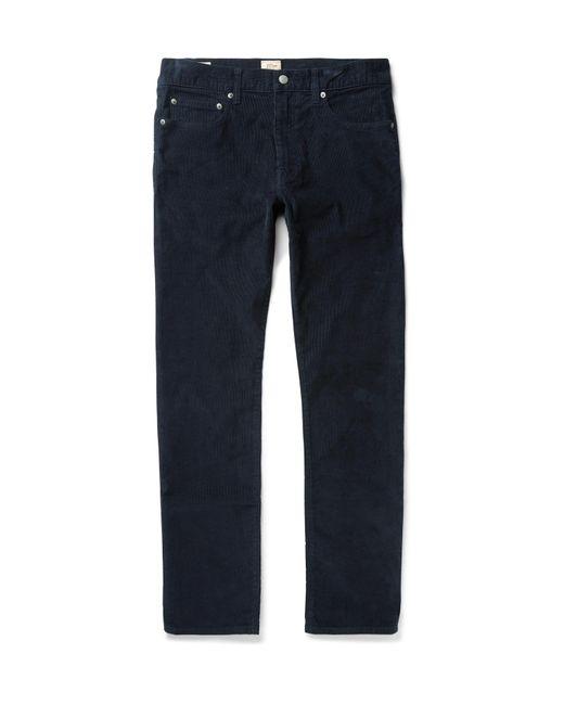 J.Crew   Blue 770 Slim-fit Stretch-cotton Corduroy Chinos for Men   Lyst