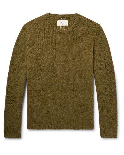 Folk | Green Interference Wool-blend Sweater for Men | Lyst