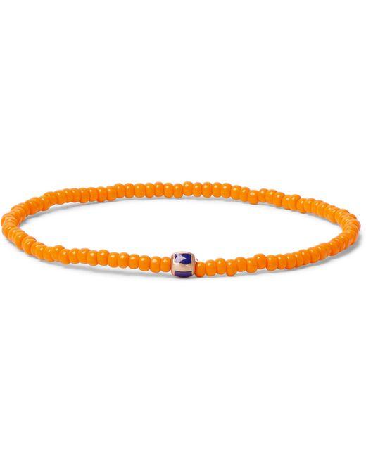 Luis Morais | Orange Enameled Stripe Beaded Bracelet for Men | Lyst