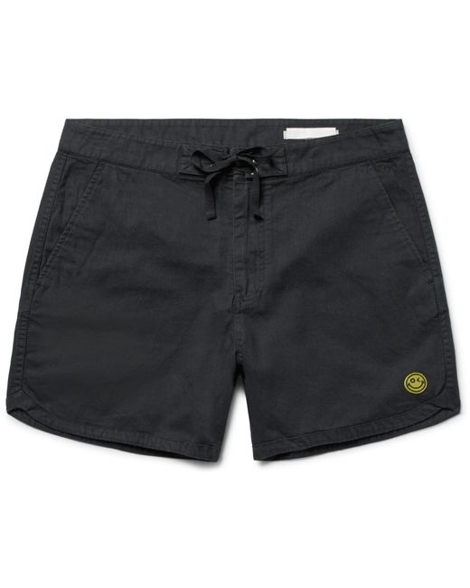 Outerknown | Black Happy Source Mid-length Organic Cotton And Hemp-blend Swim Shorts for Men | Lyst