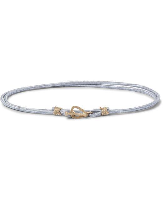 Luis Morais | Gray Cord Gold Wrap Bracelet for Men | Lyst