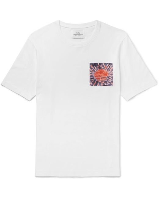 Folk | White Goss Brothers Setting Sun Printed Cotton-jersey T-shirt for Men | Lyst