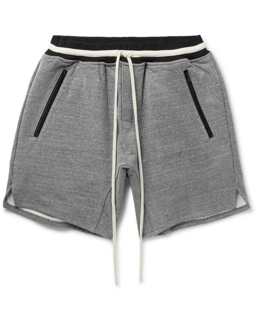 Fear Of God   Gray Loopback Cotton-blend Jersey Drawstring Shorts for Men   Lyst
