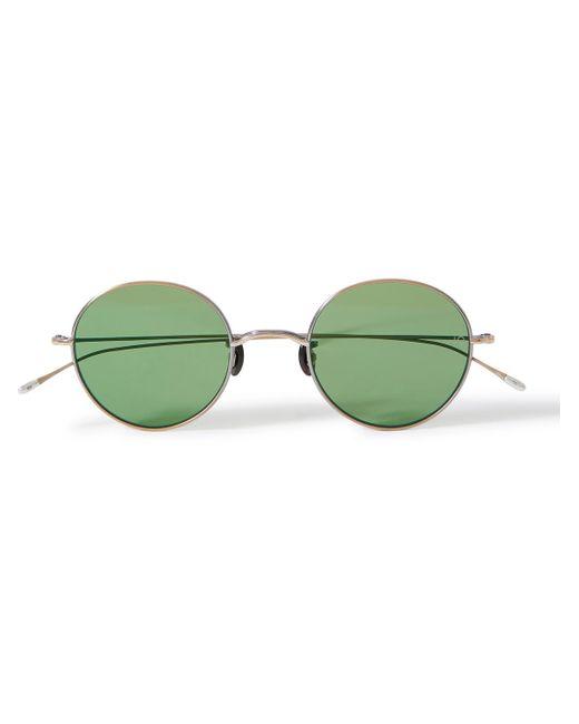 Eyevan 7285 Metallic 10 Eyevan No. 5 Round-frame Titanium Sunglasses for men