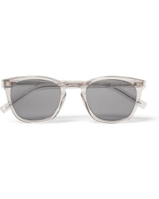 Saint Laurent - Gray D-frame Acetate Sunglasses for Men - Lyst