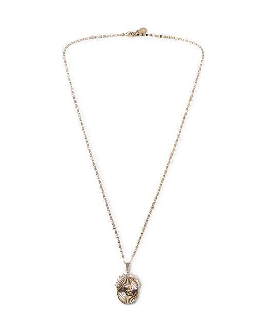 Alexander McQueen - Metallic Gold-tone Crystal Necklace for Men - Lyst