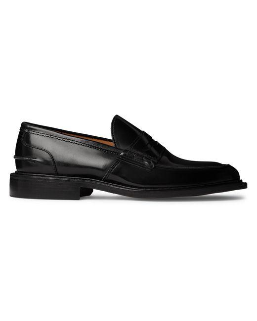 Tricker's Black James Polished-leather Loafers for men