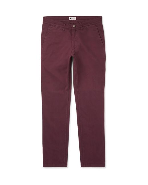 NN07 - Red Marco Slim-fit Stretch-cotton Twill Chinos for Men - Lyst