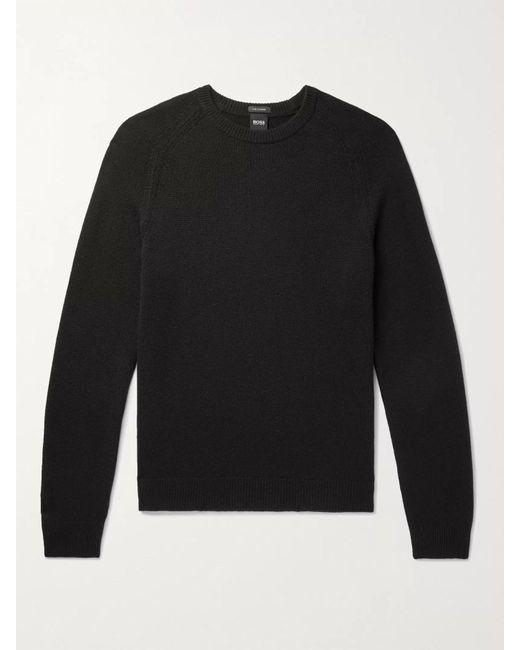 BOSS by Hugo Boss Black Cashmere Sweater for men