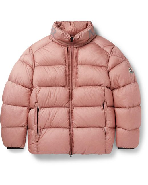 Pink Cevenne Garment-dyed Quilted Shell Down Jacket