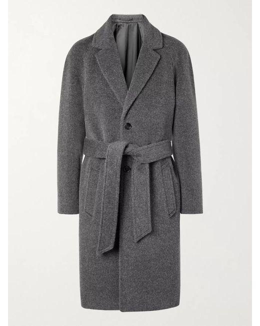Mr P. Gray Belted Brushed Virgin Wool And Alpaca-blend Coat for men
