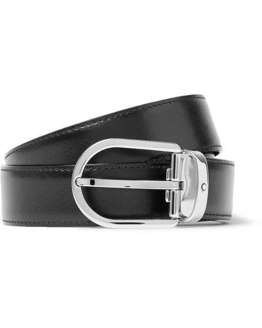 Montblanc | 3cm Black Leather Belt for Men | Lyst