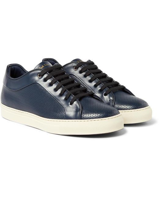 Paul Smith   Blue Basso Perforated Leather Sneakers for Men   Lyst