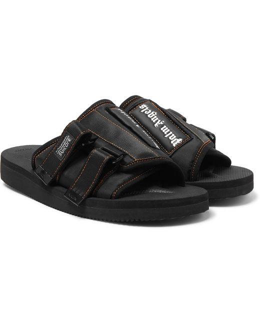 7d0655a668d0 Palm Angels - Black + Suicoke Kaw Logo-print Webbing-trimmed Nylon Slides  for ...