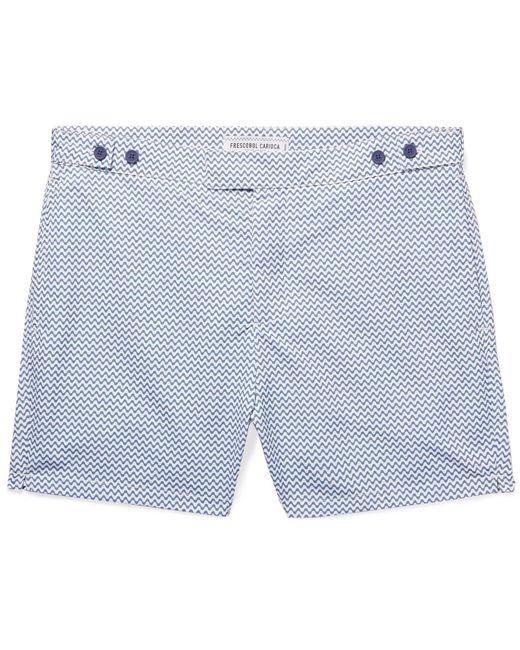 Frescobol Carioca - Blue Copacabana Short-length Printed Swim Shorts for Men - Lyst