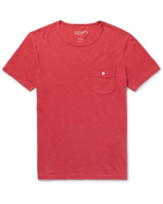 Todd Snyder - Red Slub Cotton-jersey T-shirt for Men - Lyst