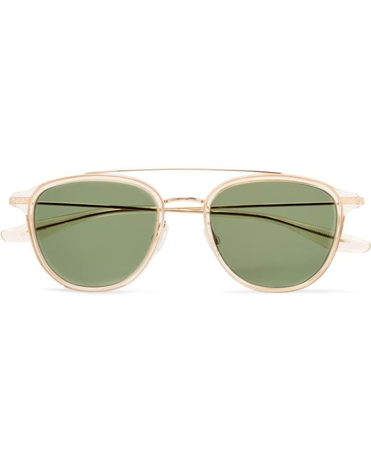 Barton Perreira - Metallic Courtier D-frame Acetate And Gold-tone Titanium Sunglasses for Men - Lyst