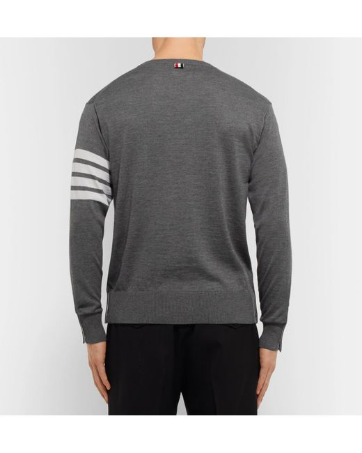 3c4d2e49c0 ... Thom Browne - Gray Grey Cashmere Pullover for Men - Lyst ...