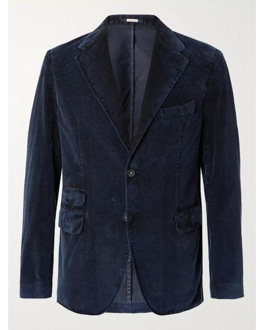 Massimo Alba Blue Cotton-corduroy Suit Jacket for men
