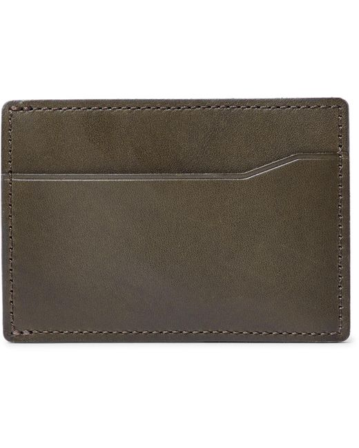 J.Crew - Green Leather Cardholder for Men - Lyst
