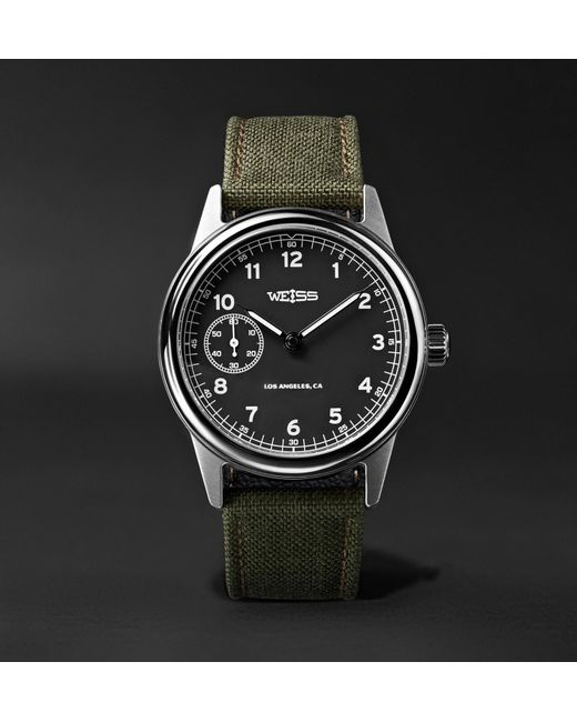 35ddb7040 Weiss - Black Automatic Issue 38mm Stainless Steel And Cordura Field Watch  for Men - Lyst
